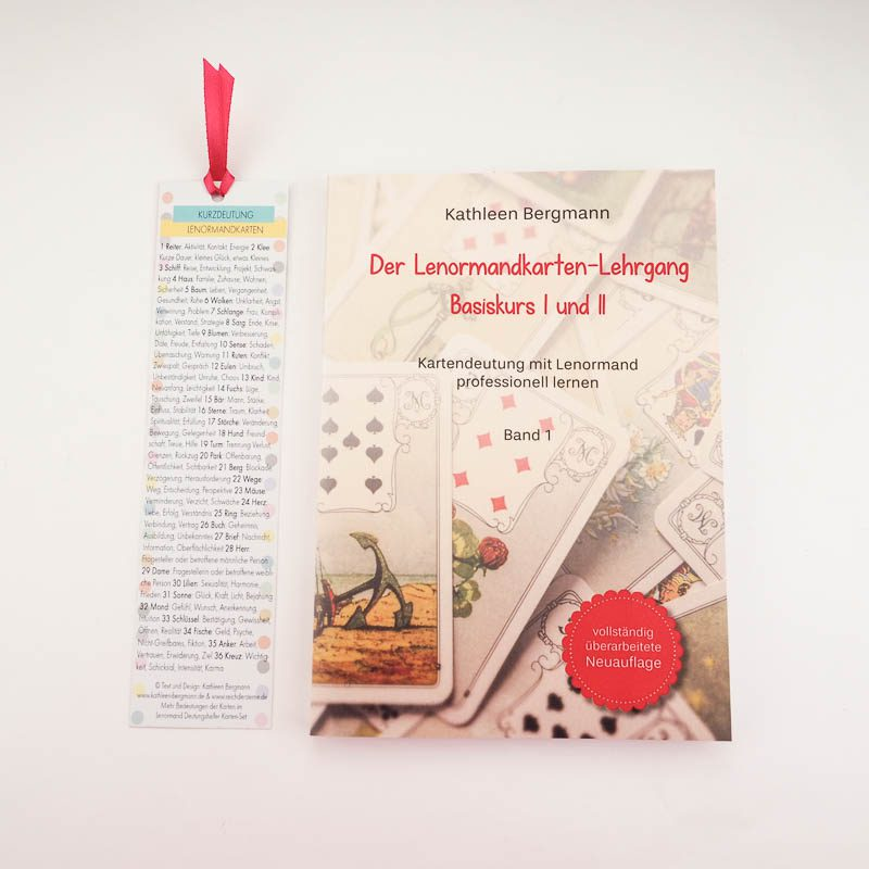 Lenormand Basiskurs Buch mit Lesezeichen