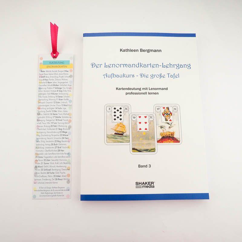 Lenormand Große Tafel Buch mit Lesezeichen