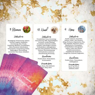 Lenormand Lernkarten Deutungshelfer Kartendeck