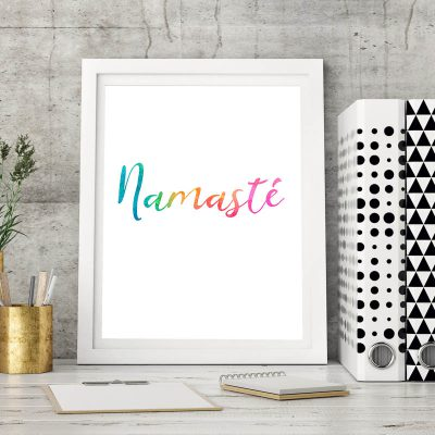 Fine Art Poster Kunstdruck Print Namaste Chakra Meditation Yoga