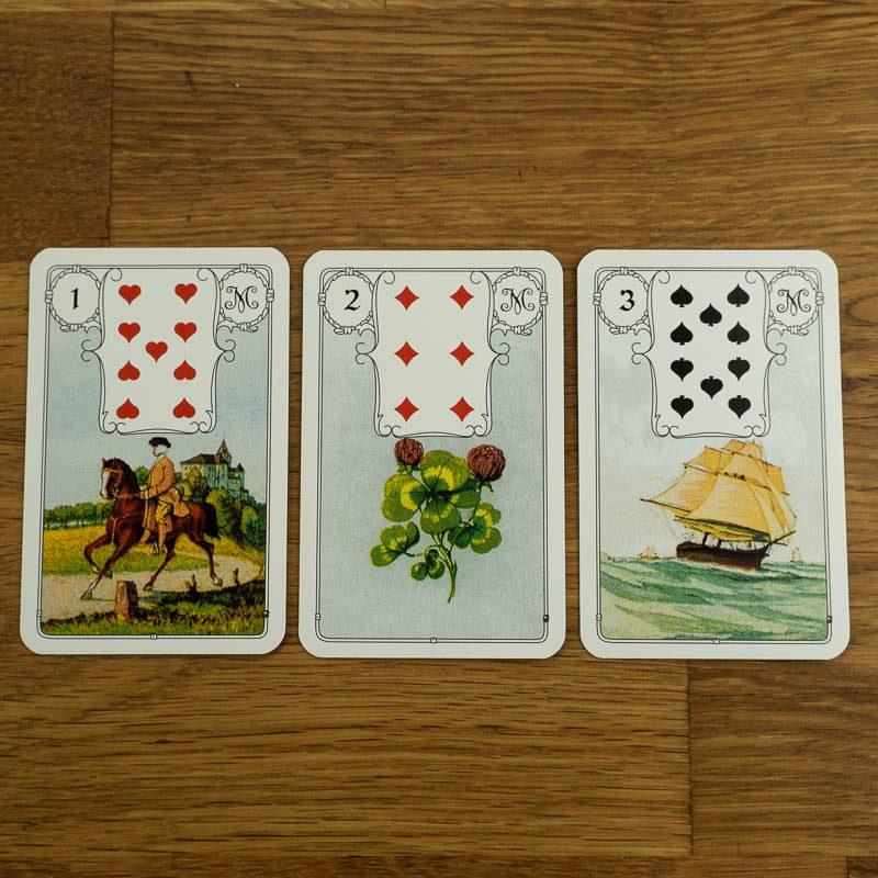 Blaue Eule Lenormand Kartendeck