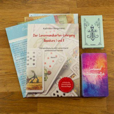 Lenormand Set Lehrbuch Blaue Eule Glückshelfer Deutungshelfer Kartendeck
