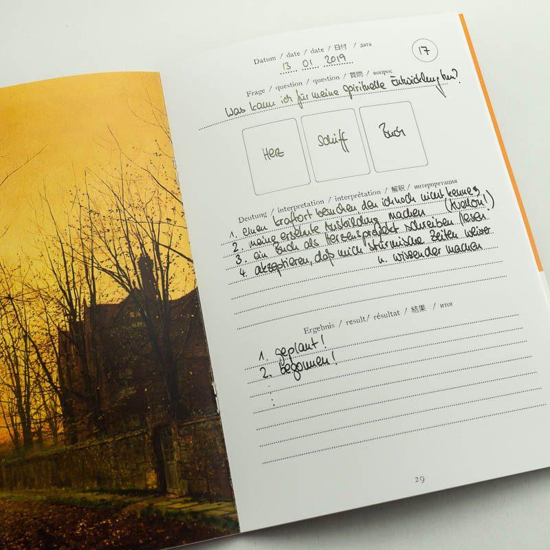 Lenormand Jounal Notizheft Vorlagen