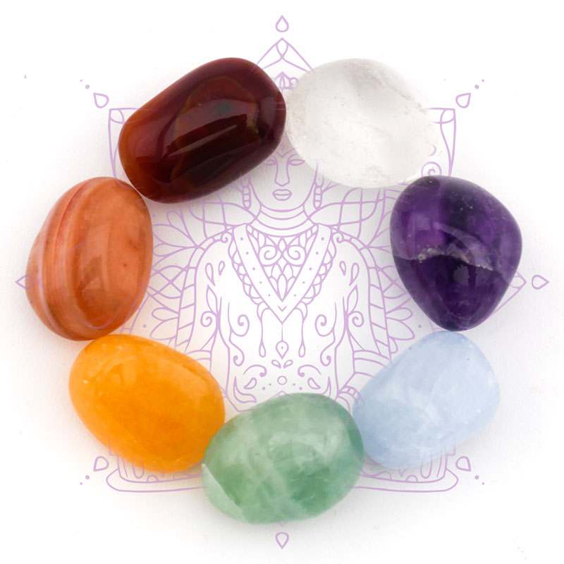 7 Chakra Chakren Pyramide Set Edelsteine  Energie M