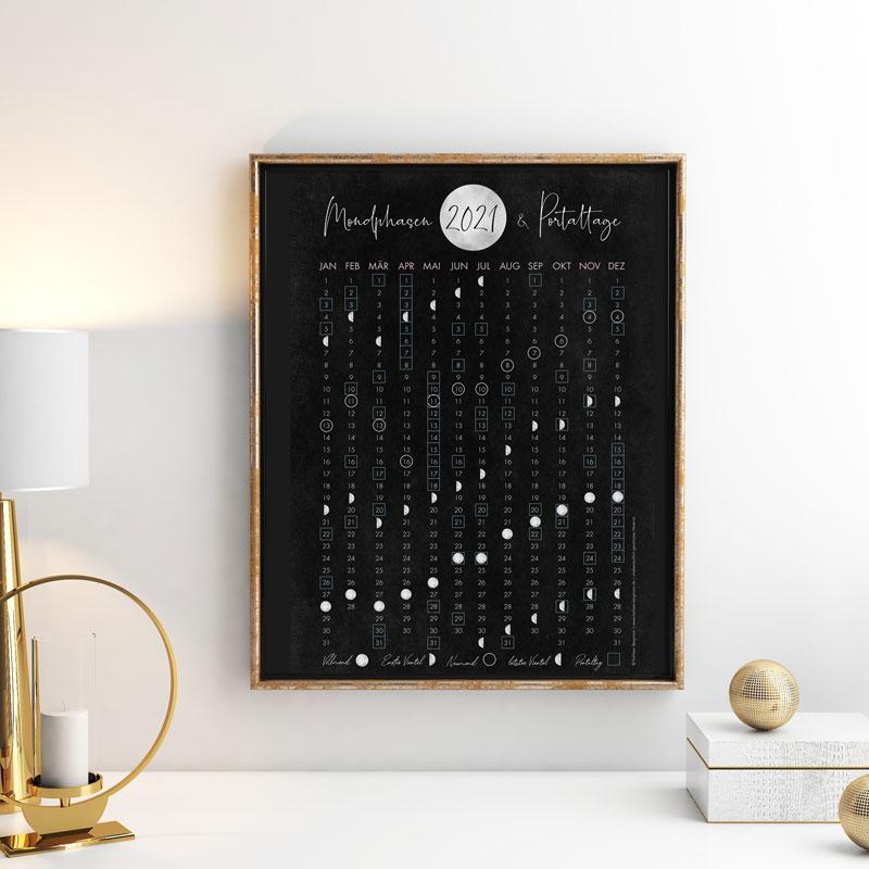 Mondphasen und Portaltage 2021 Poster